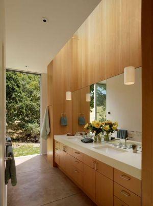Armoire & Miroir Salle De Bains - Home-Sonoma Par Turnbull Griffin Haesloop - Californie, USA