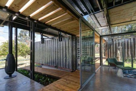 Baie Vitrée Coulissante Entrée Salon - RDP House Par Daniel Moreno Flores - Pichincha, Equateur