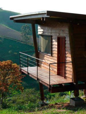 Balcon & vue panoramique paysage - Small-House-Bliss par Cabana-Arquitetos - Brésil