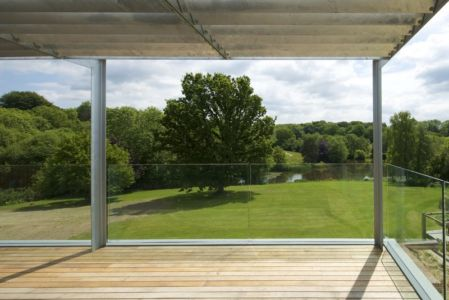 Balcon Bois & Vue Panoramique Paysage - Little-England-Farm Par BBM Sustainable Architects - East Sussex, Angleterre