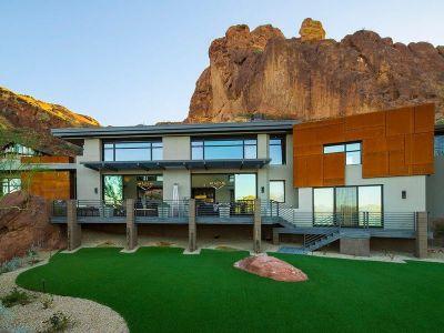 Balcon & Façade Jardin - Arizona-Contemporary Par Luster Custom Homes - Arizona, USA