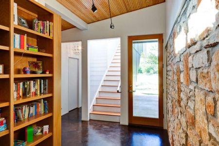 Bibliothèque & Escalier Accès étage - Sleeping-House Par A-Gruppo Architects - San Marcos, USA