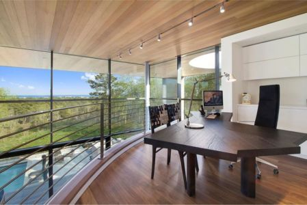 Bureau Ouvert Balcon - Hampton-Home Par Barnes Coy Architects - Hamptons, USA