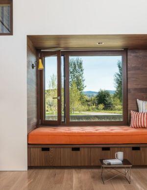 Chambre - Maison Contemporaine Bois par Carney Logan Burke Architects - Wilson, Usa