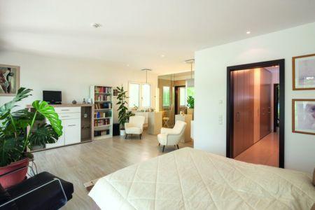 Chambre - Maison en ossature bois par Weberhaus -Brandebourg, Allemagne