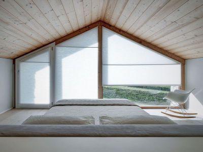 Chambre & Baie Vitrée Voilée - SV-House Par Rocco Borromini - Albosaggia, Italie