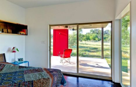 Chambre & Grande Baie Vitrée - Sleeping-House Par A-Gruppo Architects - San Marcos, USA