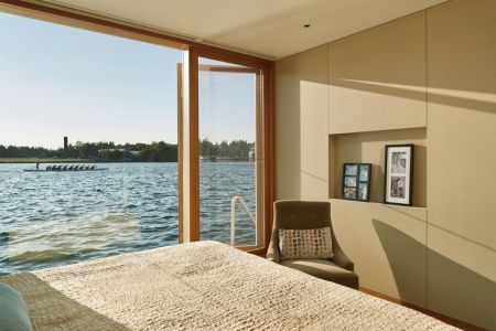 Chambre & Grande Porte Vitrée Coulissante - Floating-Home Par Vandeventer-Carlander - Seattle, USA
