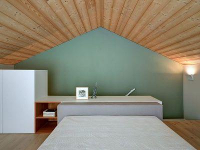 Chambre & Plafond En Lambris Bois - SV-House Par Rocco Borromini - Albosaggia, Italie