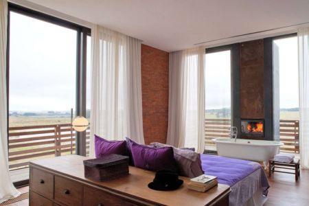 Chambre Principale & Baignoire - Luna-Llena-House Par Candida Tabet - Punta Del Este, Uruguay