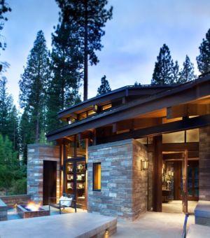 Cheminée extérieure  - Valhalla Résidence par RKD Architects - Californie, Usa