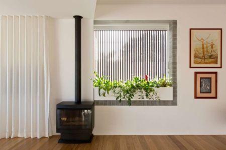 Cheminée - Balmain-House Benn & Penna Architects - Sydney, Australie