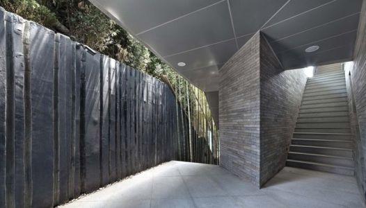 Clôture & Couloir Extérieur - Songdo-House Par Architect-K En Coree Du Sud