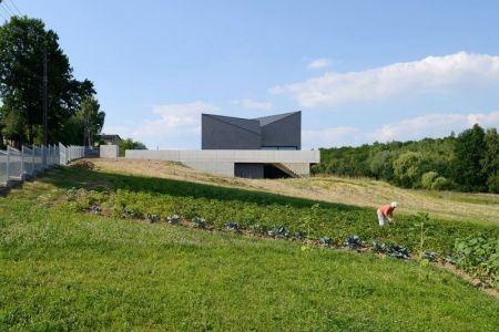 Clôture & Grande Façade Jardin - House-Krostoszowice Par RS+ - Krostoszowice, Pologne