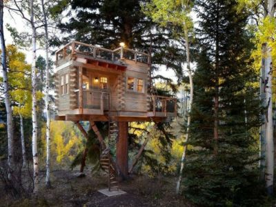 Colorado Treehouse par Missy Brown Design à Vail, Usa -  Photo David Patterson