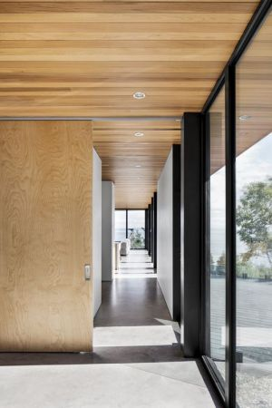 Couloir - V-Shaped-Residence Par Bourgeois Lechasseur - Charlevoix, Canada