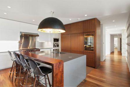 Couloir Accès îlot Central De Cuisine étage - Hampton-Home Par Barnes Coy Architects - Hamptons, USA