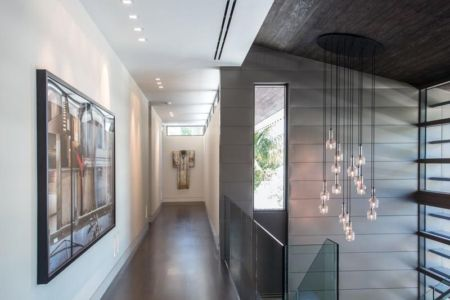 Couloir Art Déco - Ballantrae Court Par Kz Architecture - Floride, USA