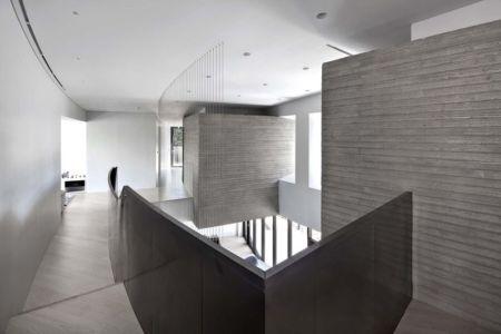 Couloir étage Supérieur - Songdo-House Par Architect-K En Coree Du Sud
