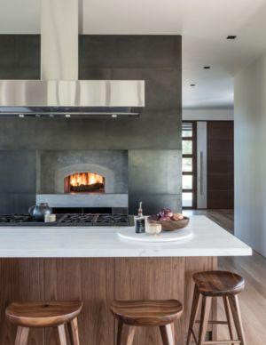 Cuisine - Maison Contemporaine Bois par Carney Logan Burke Architects - Wilson, Usa