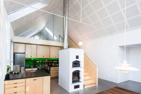 Cuisine & Cheminée - Residence-Sellebakk Par Link Arkitektur - Sellebakk, Norvege
