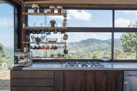 Cuisine & Façade Vitrée - Gozu-House Par Opus - El Retiro, Colombie