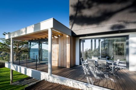 Terrasse et salon design - house-crozon par Pierre-yves Le Goaziou - Crozon, France