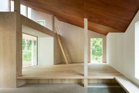 Echelle Accès Niveau Supérieur - Shed-Roof-House Par Hiroki Tominaga - Yamanashi, Japon