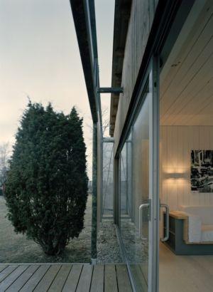 Entrée Baie Vitrée Salon - juniper-house par Murman Arkitekter - Kattammarsvik, Suède