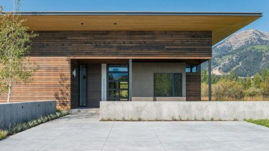 Entrée - Maison Contemporaine Bois par Carney Logan Burke Architects - Wilson, Usa