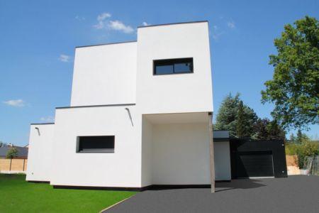 Entrée Préau et Garage - V&P - Maison contemporaine par Pascal Dupuis - France - Photo Jacky Abélard