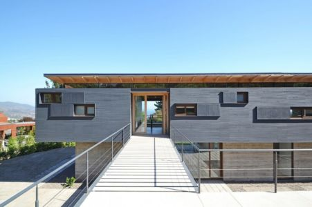 Entrée Principale - House Cs par Alvaro Arancibia - Cachagua, Chili