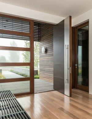 Hall d'entrée- Maison Contemporaine Bois par Carney Logan Burke Architects - Wilson, Usa