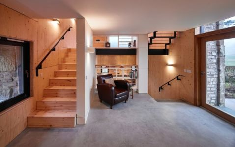 Entrée Salon - maison typique par WT Architecture - Biggar, Royaume-Uni