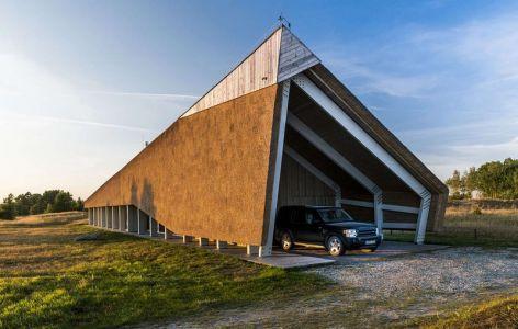 Entrée Garage - Dune-House Par Archispektras - Lettonie