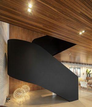 Esaclier Design Accès étage Supérieur - Fazenda-Boa-Vista Par Fernanda Marques Arquitetos - Porto Feliz, Bresil