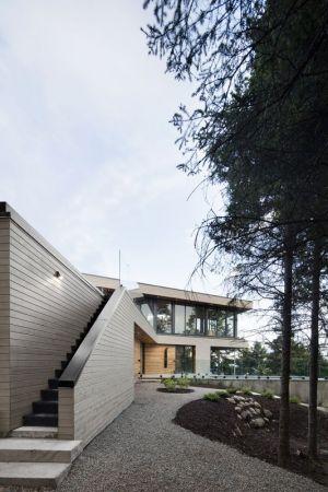 Esaclier Extérieur Accès étage - V-Shaped-Residence Par Bourgeois Lechasseur - Charlevoix, Canada