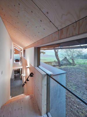 Escalier & Baie Vitrée - maison typique par WT Architecture - Biggar, Royaume-Uni