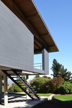 Escalier Extérieur - House Cs par Alvaro Arancibia - Cachagua, Chili