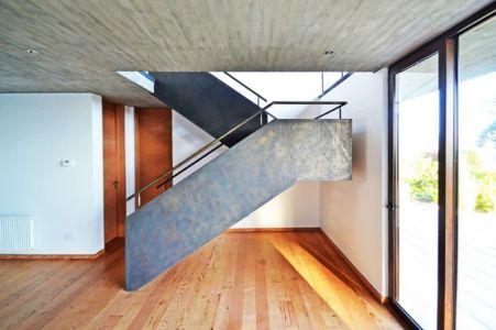 Escalier accès Etage - House Cs par Alvaro Arancibia - Cachagua, Chili