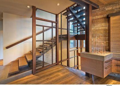 Escalier accès Etage - Valhalla Résidence par RKD Architects - Californie, USA
