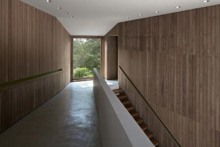 Escalier accès étage supérieur - Astrid-Hill-House par Tsao & McKown Architects - Singapour
