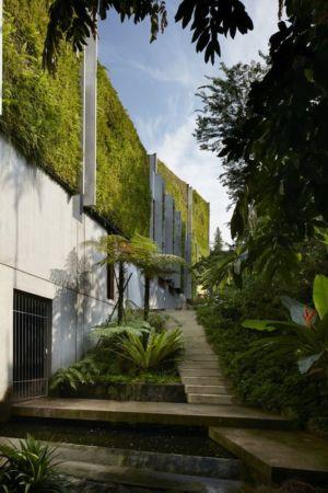 Escalier extérieur et aménagement paysager - Astrid-Hill-House par Tsao & McKown Architects - Singapour