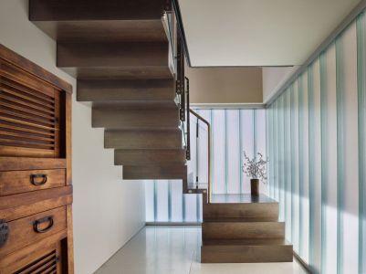Escalier Accès étage - Floating-Home Par Vandeventer-Carlander - Seattle, USA