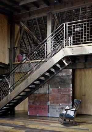 Escalier Accès étage - Rural-Barn Par MW Works - Leavenworth, USA