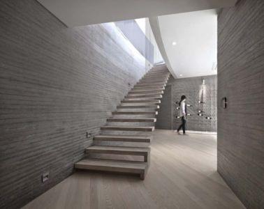 Escalier Accès étage - Songdo-House Par Architect-K En Coree Du Sud