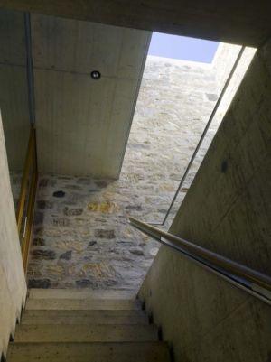Escalier Accès Toiture Béton - Building-Brione Par Meuron Romeo - Minusio, Suisse