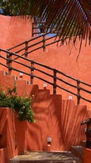 Escalier Extérieur - Casa Mariposa Conçue Par Arqflores - La Cruz De Huanacaxtle, Mexique