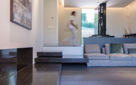 Espace salon - Wood-House par Marco Carini - Como, Italie