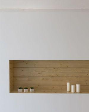 Espace Bois Rangement Des Objets - Mosha House Par New Wave-Architecture - Mosha, Iran